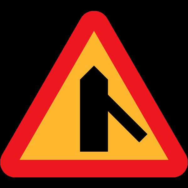 Merging traffic vector sign