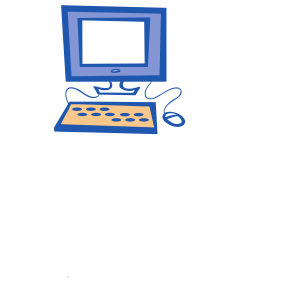 Simple computer vector drawing