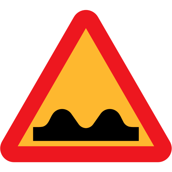 Speed Bump Sign Vector