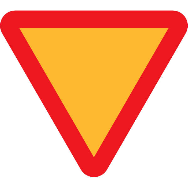 Intersection traffic sign vector image