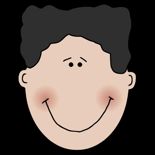 Blushed man smiling vector image