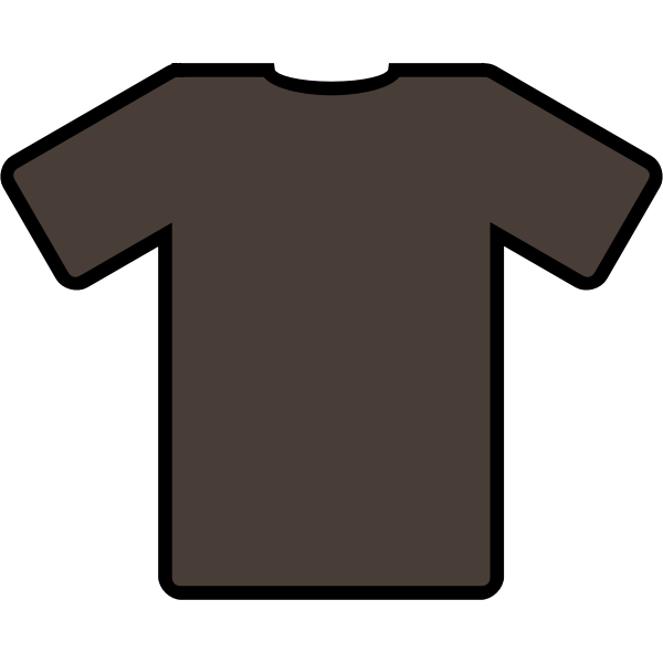 Brown-shirt vector image