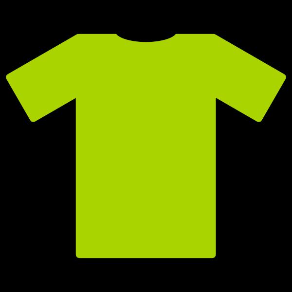 Green t-shirt vector illustration