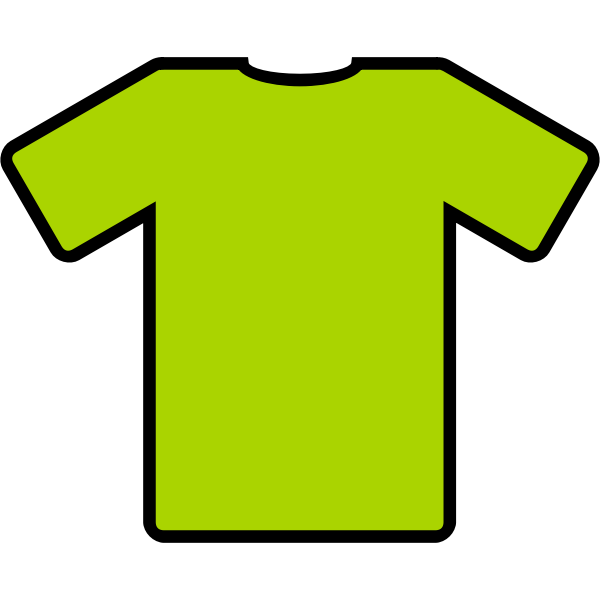 Green t-shirt vector illustration