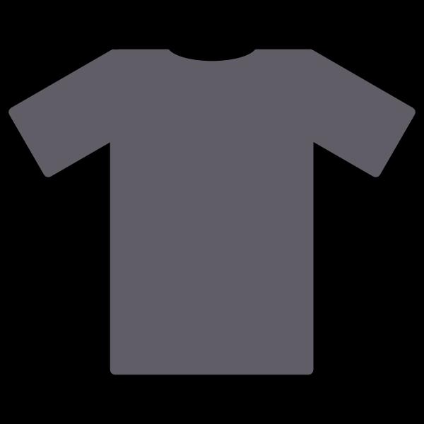 Gray t-shirt vector image