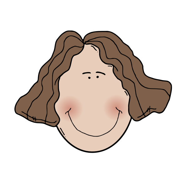 Lady face vector graphics