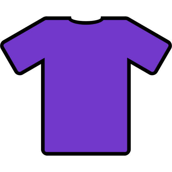 Purple t-shirt vector drawing