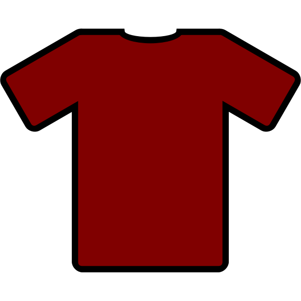 Red t-shirt vector graphics