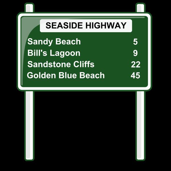 Road distances sign vector