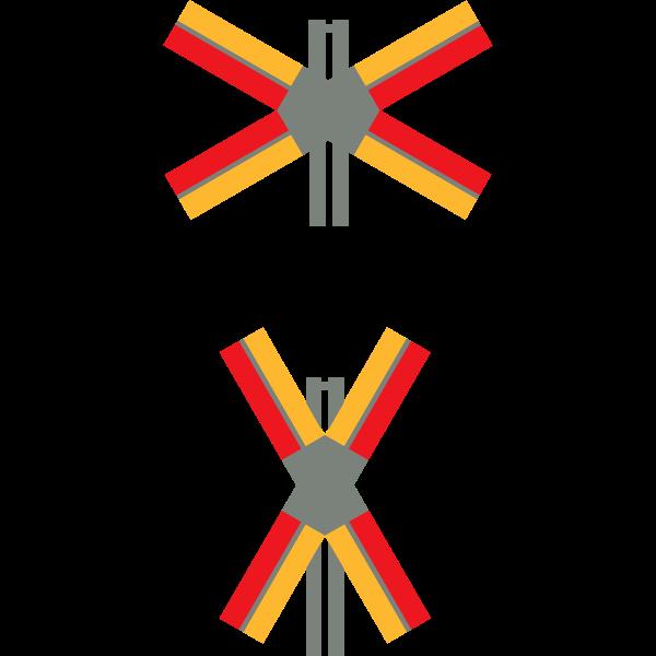 Railway crossing road sign vector