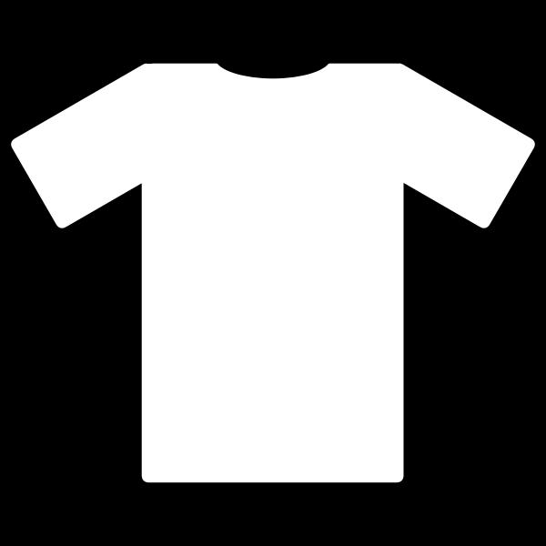 White t-shirt vector clip art