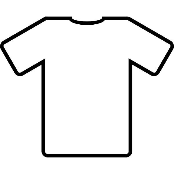 White t-shirt vector clip art