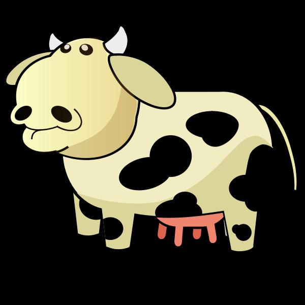 Vector image of chunky cartoon cow