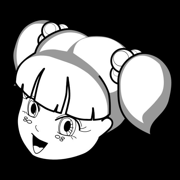 Anime girl vector illustration