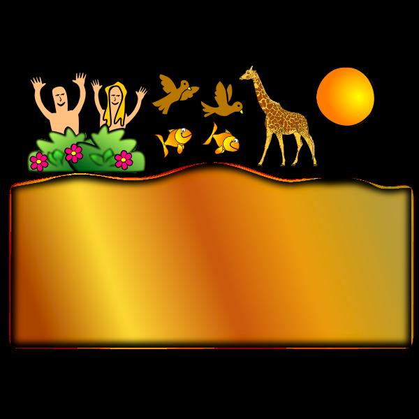 Creation scene vector image 2