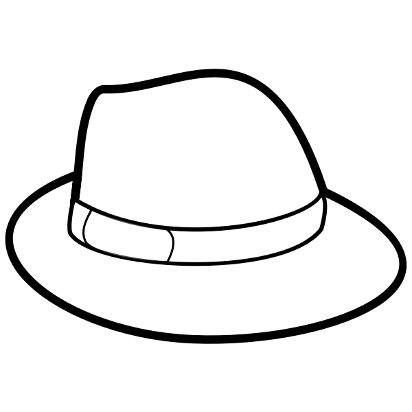 Man's hat outline vector image