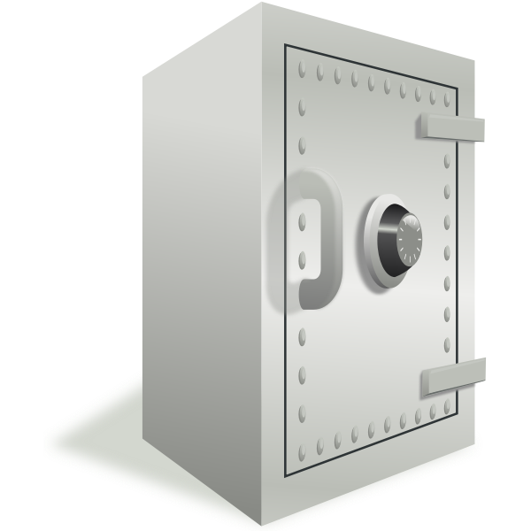 Vector image of a safe