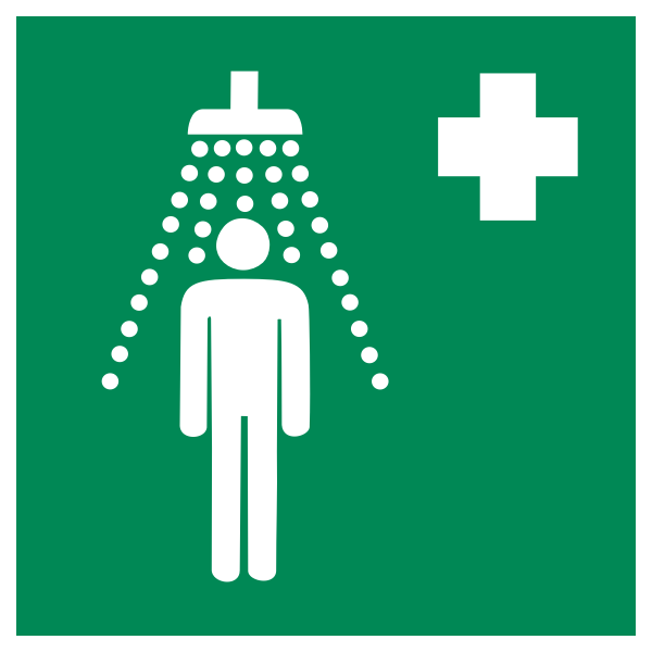 safety shower ISO 7010 E012