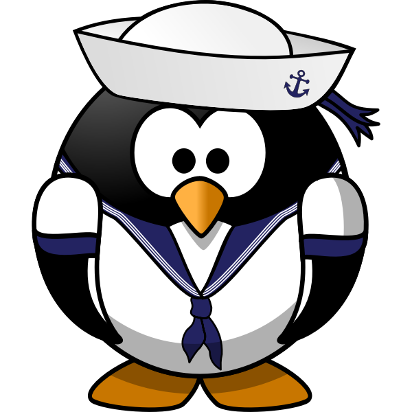Penguin as a sailor
