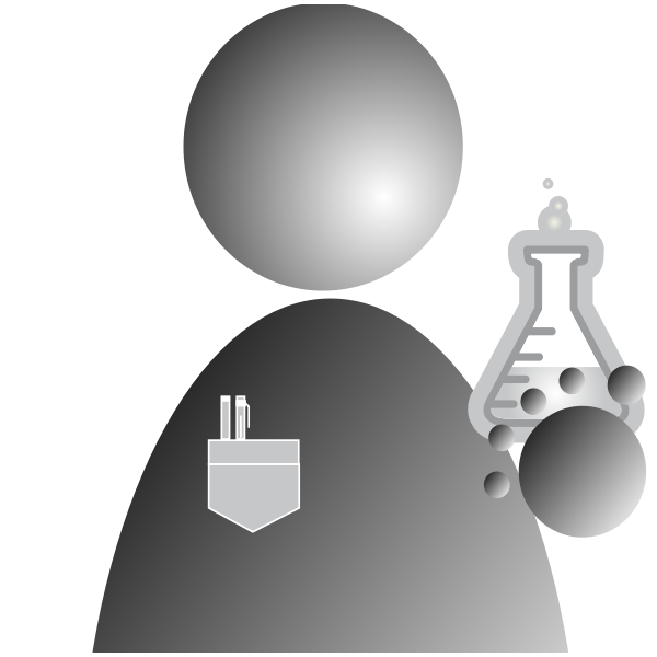 Icon with flask