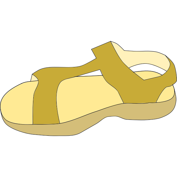 Brown sandal vector clip art