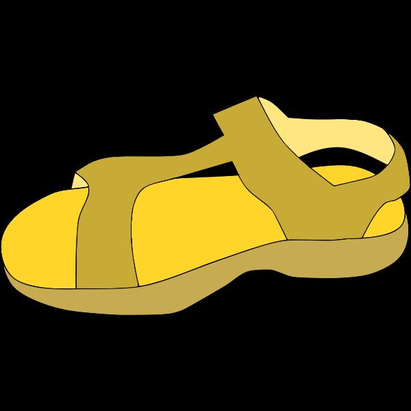 Brown sandal vector clip art