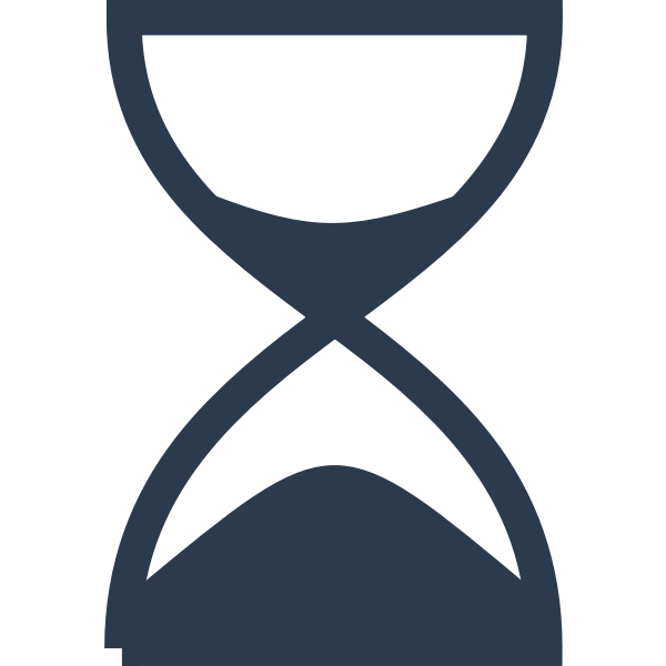 Simple hourglass vector drawing