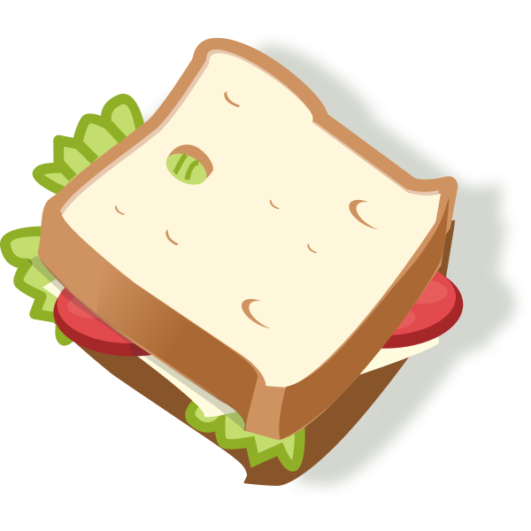 Vector illustration of vegetarian sandwich