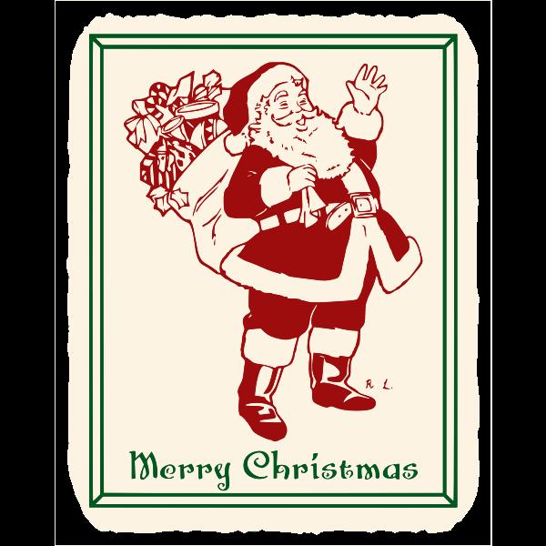 Vintage Kris Kringle poster