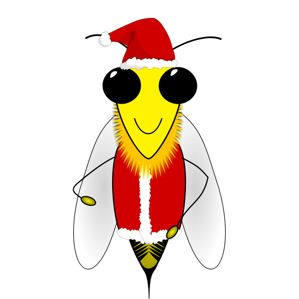 Santa honey bee vector image