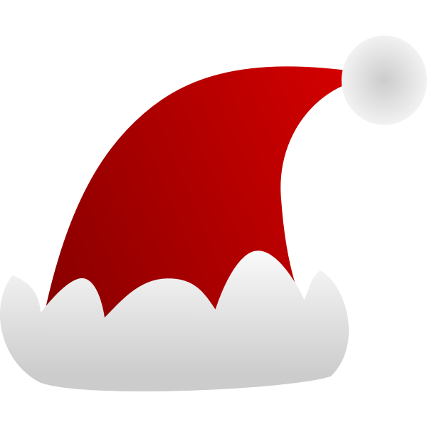 Santa Claus cap vector clip art