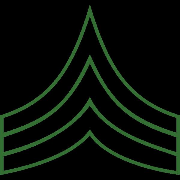 Sergeant insignia vector
