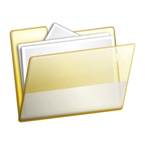Open folder vector image