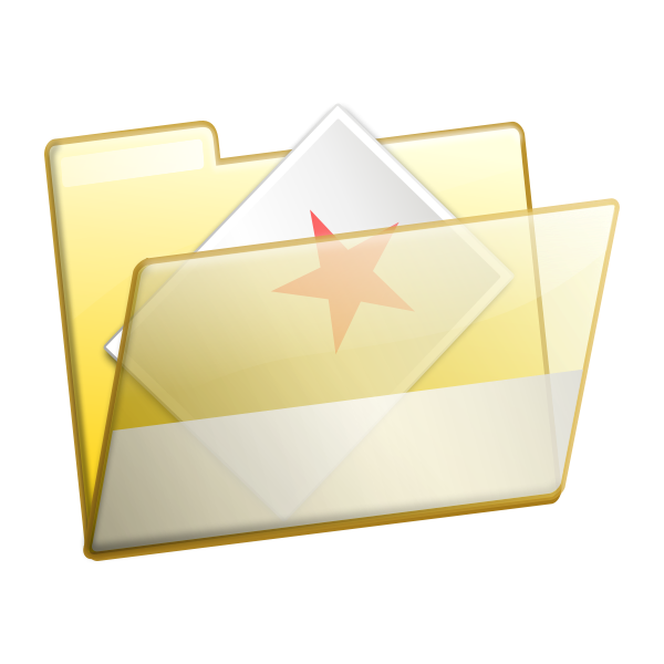Vector illustration of transparent document folder