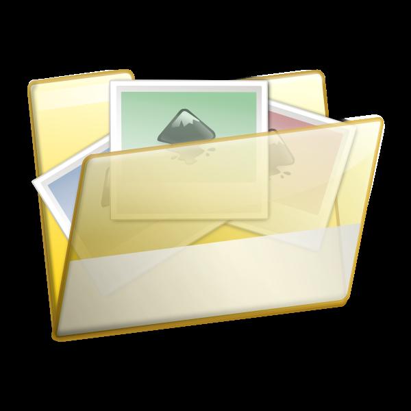 Photos folder vector image