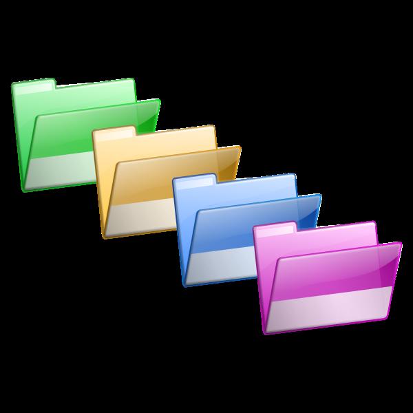 Folders selection vector image