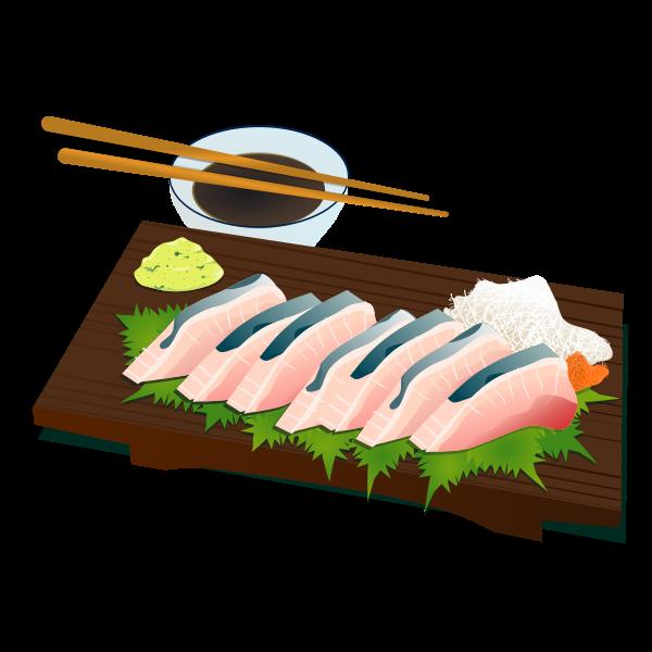 Sashimi vector image