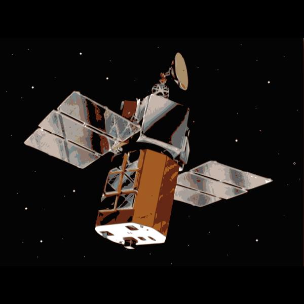 Satellite in space vector illustration