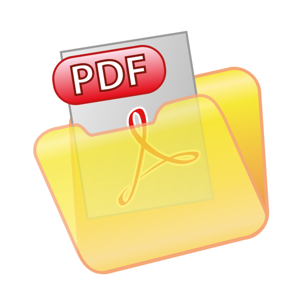 Save as PDF icon vector clip art   Free SVG
