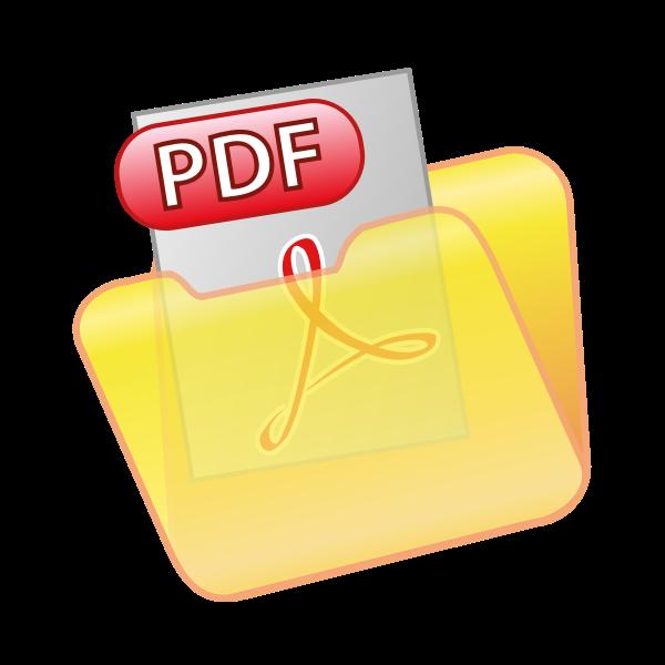 Save as PDF icon vector clip art