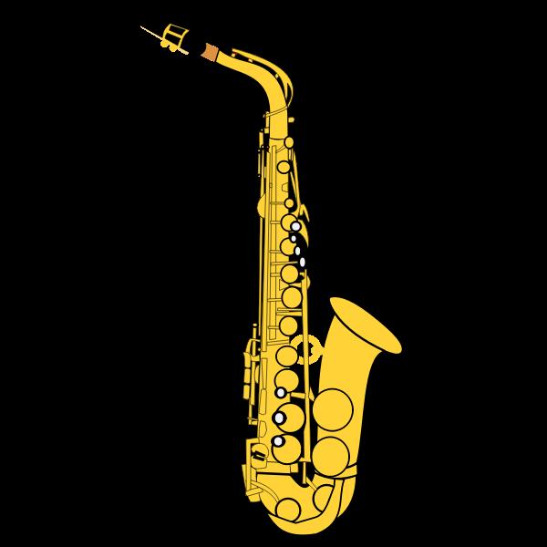 Gold saxophone vector illustration