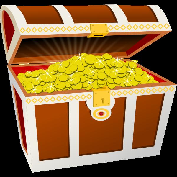 Treasure chest vector graphics