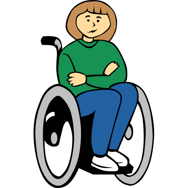 Vector graphics of handicapped woman