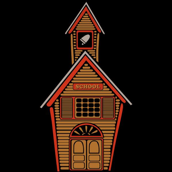 Country school vector image
