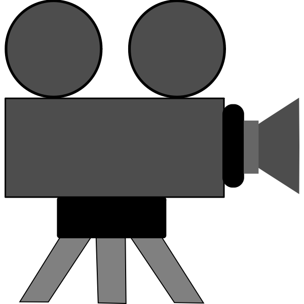 Movie camera webicon vector image