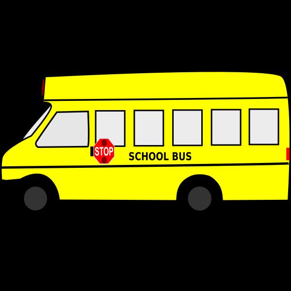 Yellow school bus vector graphics