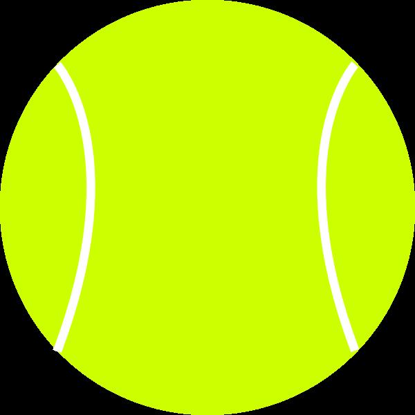 Tennis ball vector drawing