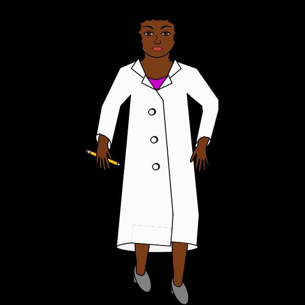 african american female scientist vector image free svg african american female scientist