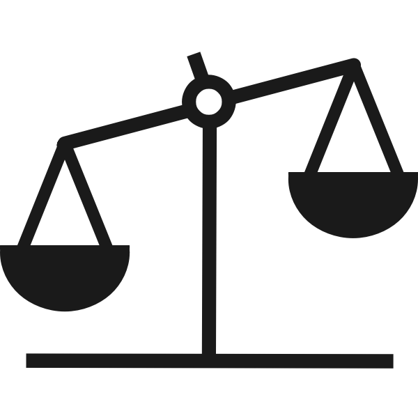 Vector image of weighing scales icon