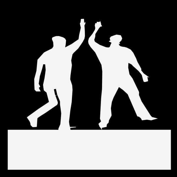 Two men statue